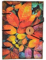 Craft Club Leaf Print Special Binding Notebook, 7 x 5 inches, 144 Pages