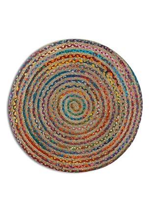 SIGNES DECORA Alfombra Mandala Multicolor 90X90