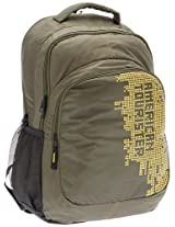 American Tourister Code Olive and Yellow Casual Backpack (R51 (0) 26 006)