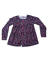 Gron Stockholm Girls' Top (GW-0430_Navy_9-10 Years)