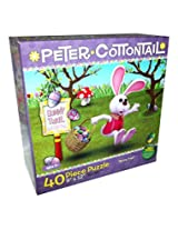 "PETER COTTONTAIL ""Bunny Trail"" ~ 40 Piece Jigsaw Puzzle"