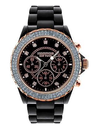 K&BROS 9559-1 / Reloj de Señora  con correa de plástico negro