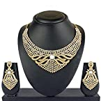 VK Jewels Exotic Gold Plated Necklace with Earrings- NKZ1026G