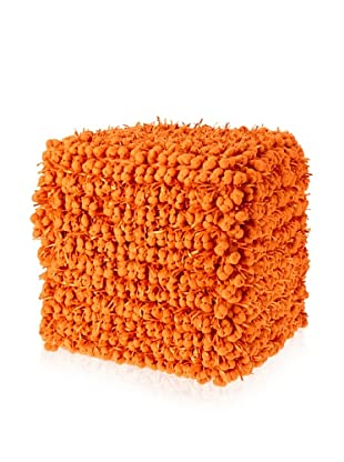 Design Accents Funberry Pouf, Orange, 18