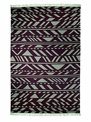 Angela Adams Zag Hand-Woven Wool Rug (Sterling)