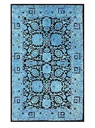 nuLOOM Hand Tufted Ramona Overdyed Rug, Blue, 7' 6