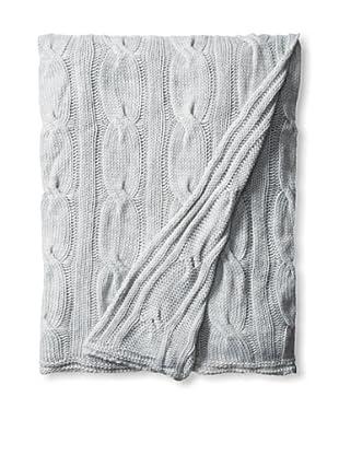 Mason Street Textiles Cardiff Throw Blanket, Etain Grey