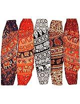Exotic India Womens Pure Cotton Harem,(Free Size)