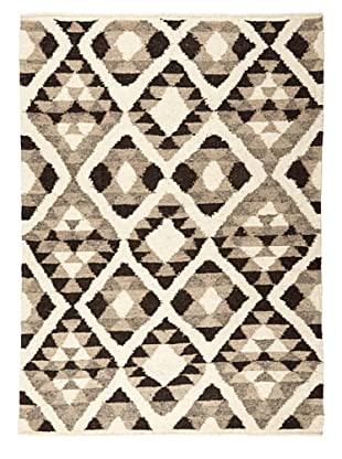 Nomadic Thread Society Guatemalan Rug Diamond (Ivory/Grey/Black)