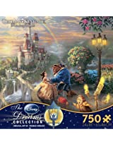 Thomas Kinkade The Disney Dreams Collection: Beauty and The Beast Falling in Love Puzzle, 750 Pieces