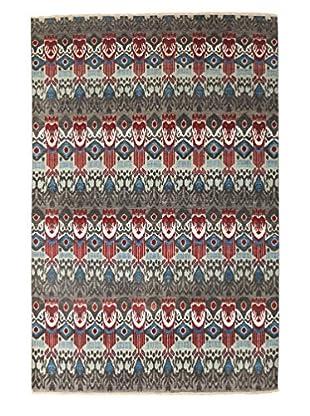Darya Rugs Ikat Oriental Rug, Red, 6' 1