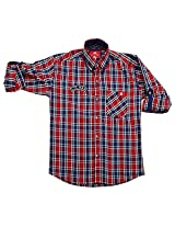 LITTLE MAN Cotton Boy's Shirt (LM9C1_16 , Red, 16)