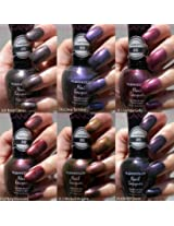 NEW KLEANCOLOR 3D DUOCHROME NAIL POLISH LOT OF 6 LACQUER THE CHROMATIC ERA KNP17 FREE EARRING