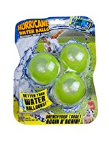 Prime Time Toys Splash Bombs - Hurricane Reusable Water Balls (3-Pack / Colors Vary)