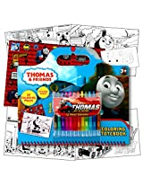 Thomas The Train Art Activity Set With Coloring Book Pages, Stickers & Twist Up Crayons Includes 1 Bonus Sheet Of Thomas And Friends Stickers