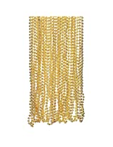 Light Gold Plastic Metallic Bead Necklaces (4 dz)