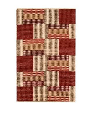 Design Community by Loomier Alfombra Bamiyan Rojo / Beige 182 x 119 cm