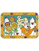 Caroline's Treasures PJC1101CMT Let Love Grow Here Kitchen or Bath Mat, 20 by 30 , Multicolor