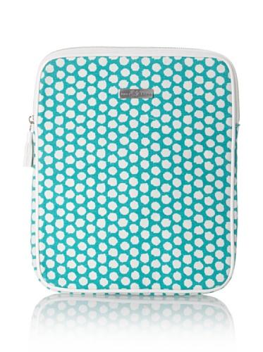 Julie Brown iPad Case (Green Polka Dot)