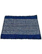 Black Butterfly Rug | Designer Doormat (Dark Blue)