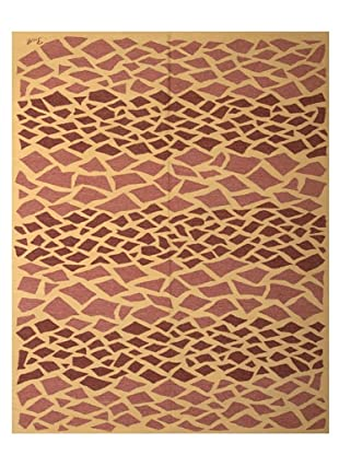 French Accents Modern Flatweave Killim Rug (Brick/Mauve/Natural)