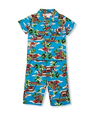 Mini ZZZ Pijama Hawaii (Turquesa)