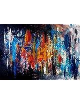 Faim Paintings Abstract Art Abstracted Canvas Print 32x22 Frameless