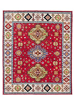 eCarpet Gallery One-of-a-Kind Hand-Knotted Royal Kazak Rug, Red, 8' 2