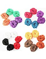 AccessHer Lace hair band Hair ties MultiColor combo Pack of 24
