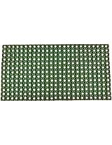 """Agra Dari Woolen Doorm Mat - 8"""" x 9"""" , Green"""