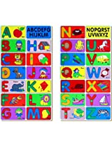 Little Genius Alphabet Match Puzzle, Multi Color (Set of Two Tray)