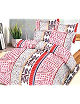 Always Plus Floral Printed Double Bed Bedsheet With 2 Pillow Covers