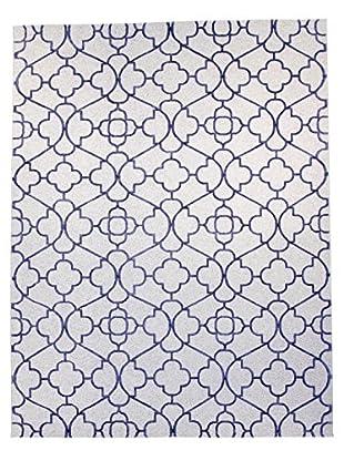 F.J. Kashanian Soho Hand-Knotted Rug, Ivory/Navy, 9' 1