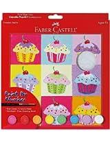 Faber-Castell - Paint by Number Cupcake Pop-Art Kit - Premium Kids Crafts