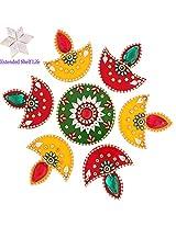 Diwali Gifts - Decorative Acrylic Rangoli R-801 with kaju katli