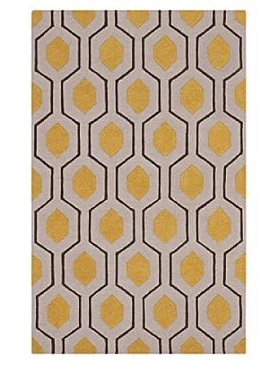 Dalyn Tones Geometric Wool Rug, Silver (Silver)