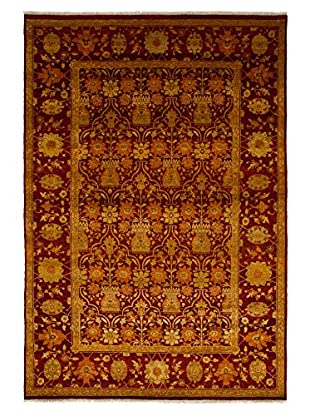 Darya Rugs Traditional Oriental Rug, Red, 6' 1