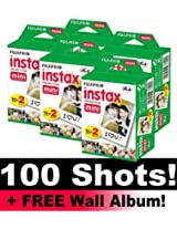 Fujifilm Instax Mini Film Bundle Pack (100 Shots) + FREE Wall Album!