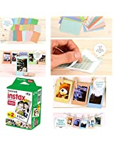 Fujifilm Instax Mini Twin Pack Instant Film 20 Sheets/20PCS Instan FujiFilm Instax Mini 8 7s 25 50s Sticker Set