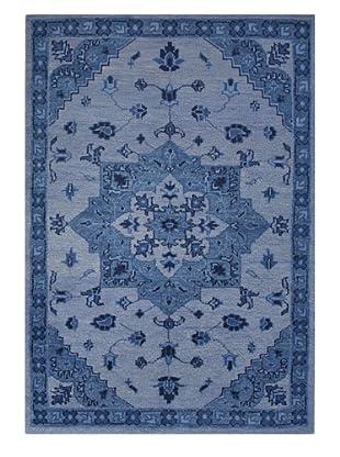 Jaipur Rugs Hand-Knotted Wool Rug, Parisian Blue, 5' x 8'