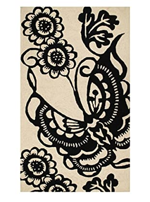 Trina Turk Butterfly Hook Rug3' x 5' (Black)