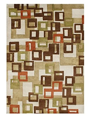 Horizon Rugs New Zealand Wool Rug (Brown/Beige/Rust Multi)