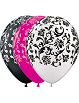 "Pioneer Balloon Company 50 Count Damask Print Latex Balloon, 11"", Assorted"