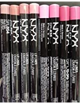 NYX Cosmetics Long Lasting Slim Lip Liner / Eyebrow Pencil 8 Shades of Nude Neutral Pink color Series 2015