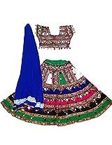 navratri Lahenga choli,gujarat chaniya choli,kutch embroidered ghagra choli-Navratri chaniya choli Mluti colour Designer Indian Lehenga Choli for Garba-l(fully stitched,free size)