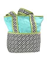 Hoohobbers Tote Diaper Bag, Maze Black