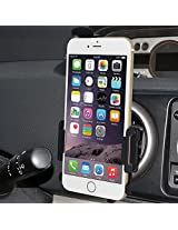 AMZER Swiveling Air Vent Mount Holder for iPhone 6, iPhone 6s, iPhone 7 - Black