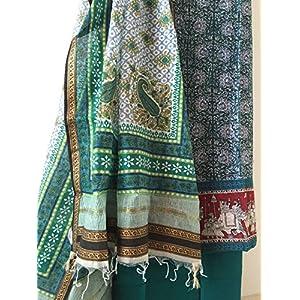 Fashioniista Green Grandeur - Dress Material