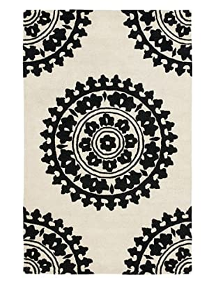 Soho Rugs Pattern (Ivory/Black)