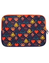 Chumbak  CLAP020-15 15-inch Taash Laptop Sleeve (Multicolor)